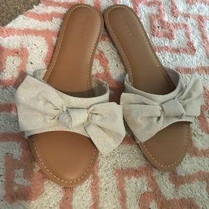Old Navy bow sandal slides size 9